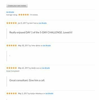 The Review Display Page from WP Customer Reviews